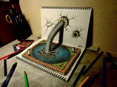 3D Drawing - Fountain of Youth by NAGAIHIDEYUKI.deviantart.com on @deviantART
