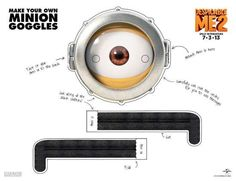 Villiainous Character Costume Printables - These Minion Goggles Make a Great Despicable Me Costume