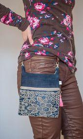 pratica borsa da cintura di www. - Táskák - pratica borsa da cintura di www. Bag Jeans, Denim Tote Bags, Denim Purse, Jean Purses, Denim Ideas, Denim Crafts, Recycled Denim, Fabric Bags, Handmade Bags