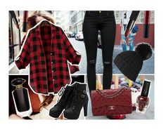 """""""♥"""" by antonelamarc ❤ liked on Polyvore featuring moda, Topshop, J Brand, NARS Cosmetics, Victoria's Secret e Chanel"""