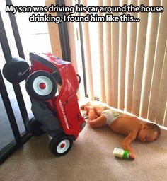 No drinking and driving!