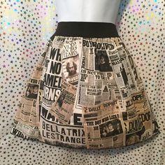 Daily Prophet Harry Potter Skirt
