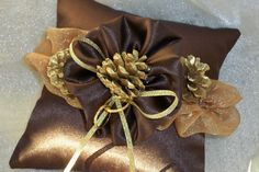 Ring Bearer Pillow  Pinecone Accent by RGruenDesigns on Etsy, $30.00