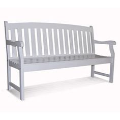Bradley Outdoor White Weather Resistant Wood Bench | Overstock.com Shopping - Great Deals on Outdoor Benches