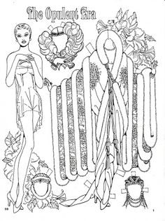 The Opulent Era fashion Paper Dolls by Charles Ventura - Nena bonecas de papel - Picasa Web Albums Colouring Pages, Adult Coloring Pages, Coloring Books, Paper Puppets, Paper Toys, Paper Art, Paper Crafts, Paper Dolls Printable, Paper People