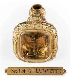 Seal of the Marquis de Lafayette.  9/6/1757.