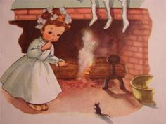 """VINTAGE """"NOT A CREATURE STIRRING, NOT EVEN A MOUSE!!"""" CHRISTMAS GREETING CARD"""