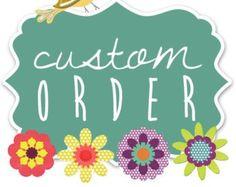 Place an order for custom sugar cookies. SweetAsAlways.etsy.com