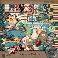 Super Cute kit from Keystone Scraps:  Creature Feature [ks_creature] - $3.24 : Scraps N Pieces Store