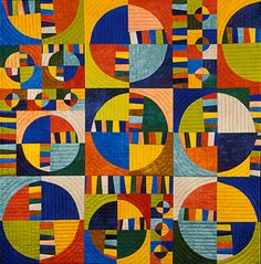 """image of quilt titled """"Irrational Exuberance"""" by Barbara Nepom © 2006"""