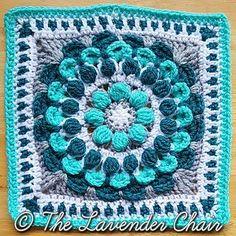Marigold Mandala Square Free Crochet Pattern | The Lavender Chair | Bloglovin'