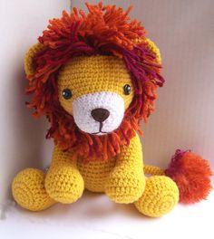 Instant Download Crochet Pattern-Baby Lion-Toy Lion-Amigurumi