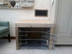 Diy dog crate table beds ideas for 2019