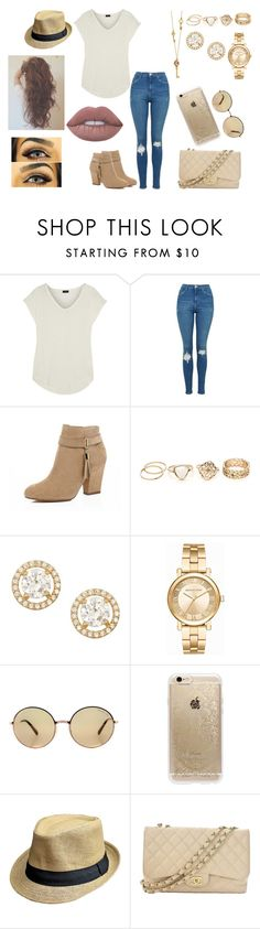 """Charlie"" by dearxadriana on Polyvore featuring Joseph, Topshop, River Island, Gioelli, Michael Kors, Rifle Paper Co, Chanel and Lime Crime"