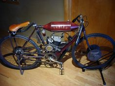 Vintage Motorcycles, Cars And Motorcycles, Motorised Bike, Indian Scout, Motorized Bicycle, Vintage Bikes, Street Bikes, Cool Bikes, Ducati