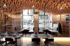 Terra Cota Ceiling - 2-gazi-restaurant-by-march-studio-melbourne