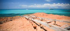 Traditional boat ramp Cala Saona