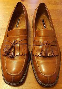 Florsheim - Cognac Brown, Leather, Kiltie Tassel, Split toe, Shoes (Size 12D) #Florsheim #LoafersSlipOns