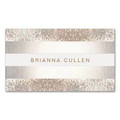 Stylish Faux Sequin Stripe Beauty and Fashion Business Card Templates. This is a fully customizable business card and available on several paper types for your needs. You can upload your own image or use the image as is. Just click this template to get started!