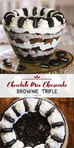 OMG Chocolate Oreo Cheesecake Brownie Trifle - Uxlog You are in the right place about baking desserts Here we offer you the most beautiful pictures about the quick baking you are looking for. Oreo Cheesecake, Homemade Cheesecake, Cheesecake Recipes, Oreo Brownie Trifle, Oreo Brownies, Oreo Cake, Raspberry Cheesecake, Pumpkin Cheesecake, Köstliche Desserts