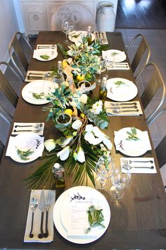 Greek Inspired Dinner Party : greek table setting decorations - Pezcame.Com