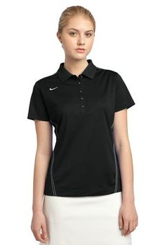 a666a614 Nike Golf Ladies Dri-FIT Sport Swoosh Pique Polo in Black. 452885. $57.98