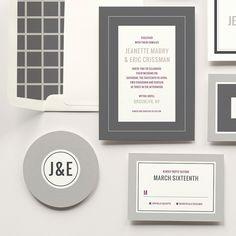 Minimalist modern wedding invitation suite, MaeMae & Co for Violet Modern Wedding Invitations, Wedding Invitation Suite, Wythe Hotel Brooklyn, Modern Minimalist Wedding, Style Guides, Wedding Styles, Design, Wedding Announcements