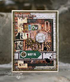Блог Scrapberry's: Задание 38. Мужская открытка с фотопленкой Mixed Media Art, Mix Media, Fathers Day Cards, Masculine Cards, Tim Holtz, Hobbies And Crafts, Vintage Cards, Homemade Cards, Cardmaking