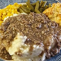 Easy Hamburger Gravy over Mashed Potatoes Quick and EasyHamburger Gravy over Mashed Potatoes Hamburger Gravy Recipe, Beef Gravy, Hamburger Recipes, Ground Beef Recipes, Easy Hamburger Meat Recipes, Beef Meals, Sausage Gravy, Beef And Potatoes, Mashed Potatoes