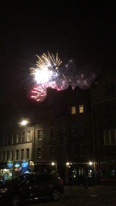 #edinburghtattoo fireworks from the grass market