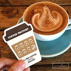 Coffee Loyalty Card on 300gsm Arte, Die Cut Finish
