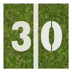 30th Birthday Football Party Invitation