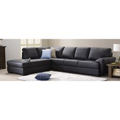 Milan leather corner chaise lounge. (Family room)