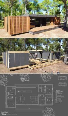 PopUp House é uma casa pré-fabricada reciclável que você monta com uma chave de fenda stylo urbano
