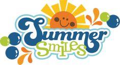 Summer Smiles SVG scrapbook title summer svg files sun svg files for cards scrapbooking free svgs
