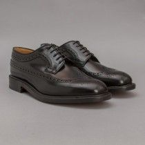 Loake 'Royal Brogue (Black Polished Leather)'