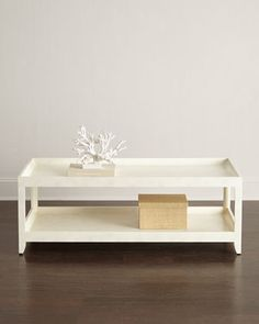 """$1600 56""""W x 58""""D x 19.5""""T. McCall Coffee Table at Horchow."""