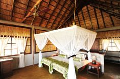 Newly renovated Kafunta chalets, each with a deck overlooking the South Luangwa National Park.