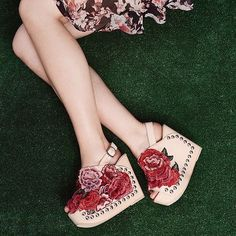 This bud's for you. New Jeffrey Campbell clogs, not for wallflowers.
