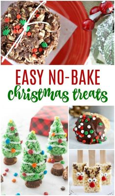 Easy No Bake Christmas Treats and Gift Ideas Cheap Gift Ideas for Friends Neighbors Coworkers or Holiday Parties No Bake Cookies Desserts and Candies for a crowd Christmas Desserts Easy, Christmas Food Gifts, Christmas Cooking, Holiday Treats, Holiday Recipes, Holiday Parties, Cheap Christmas, Christmas Recipes, No Bake Christmas Cookies
