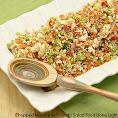 Chopped Vegetable Confetti Salad www.fooddonelight.com