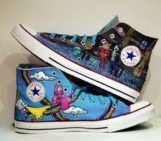 Canvas converse adventure time style
