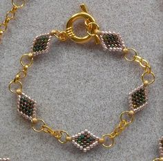 Peyote and Chain Bracelet