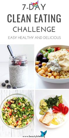 7-Day Clean Eating Challenge & Meal Plan #3 - Beauty Bites 7-Day Clean Eating Challenge & Meal Plan #3 - Beauty Bites<br> 7-Day healthy meal plan for this month's clean eating challenge! This plan includes healthy recipes for breakfast, lunch and dinner and a grocery list. Clean Eating Challenge, Clean Eating Meal Plan, Healthy Eating Plans, Clean Eating Lunches, Healthy Meal Planning, Clean Eating Dinner Recipes, 7 Day Challenge, Menu Planning, Workout Challenge