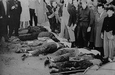 """El 16 de junio de 1955, una cuadrilla de aviones con la insignia """"Cristo Vence"""" bombardeó y ametralló la Plaza de Mayo y la Casa de Rosada, asesinando a más de 380 civiles."""