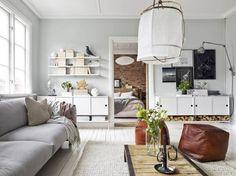 Nádherný byt splňující všechny podmínky oblíbeného skandinávského stylu, včetně 100 let starého funkčního krbu | Living | bydlení | WORN magazine