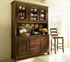 Something similar to this for the formal dining area: Benchwright Buffet & Hutch #potterybarn
