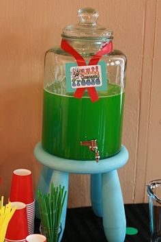 lemonade (dyed green) Antifreeze drink