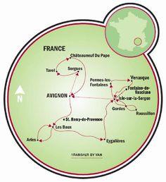 Pueblos famosos de Provenza Map