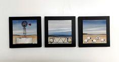 Glass Blocks, Fused Glass, Landscape, Frame, Home Decor, Picture Frame, Scenery, Decoration Home, Room Decor
